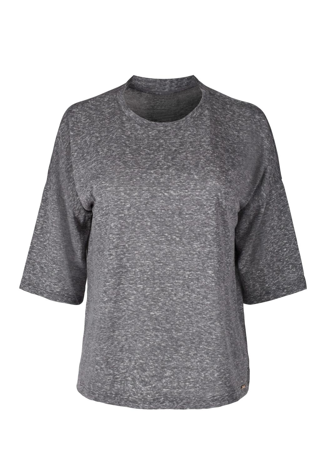 Skiny L. shirt s/sl, Skiny loungwear collection, gray flame melange