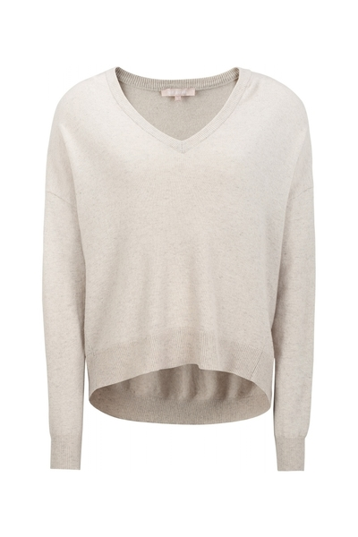 Soft Rebels Elka V-neck knit, birch
