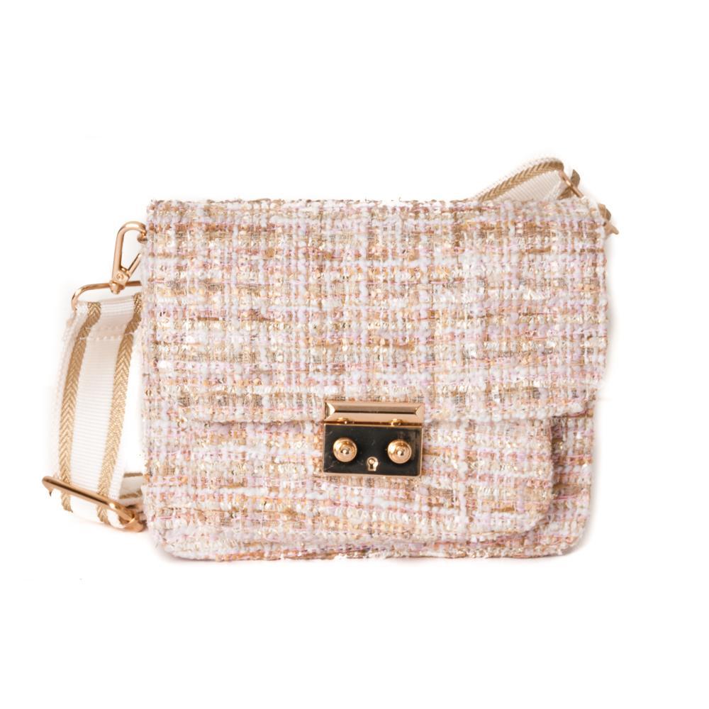 Rosenvinge bag Celina bouckle clutch, offwhite/pink