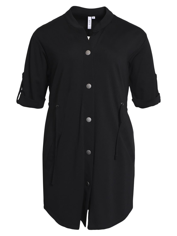 Ciso jersy jakke, kort erm, sort