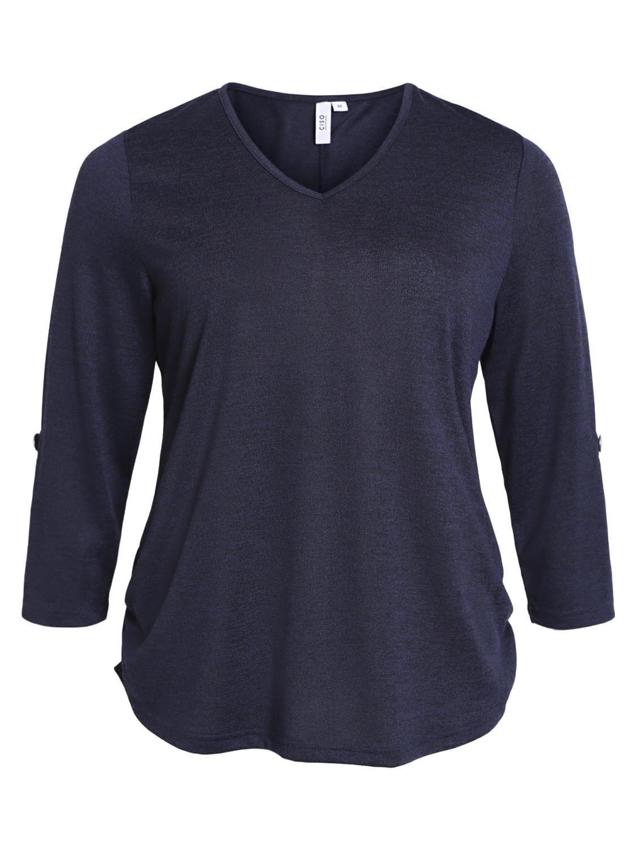 Ciso genser 3/4 erm, marineblå