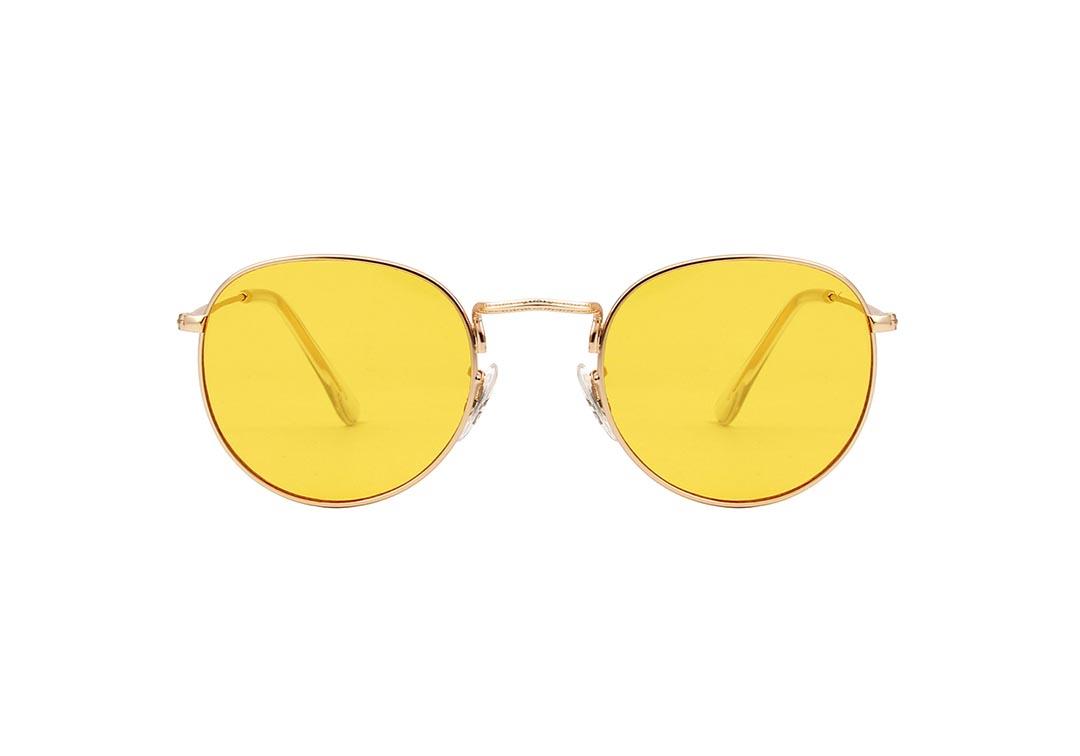 A. Kjærbede Pilot, gold/yellow, solbriller