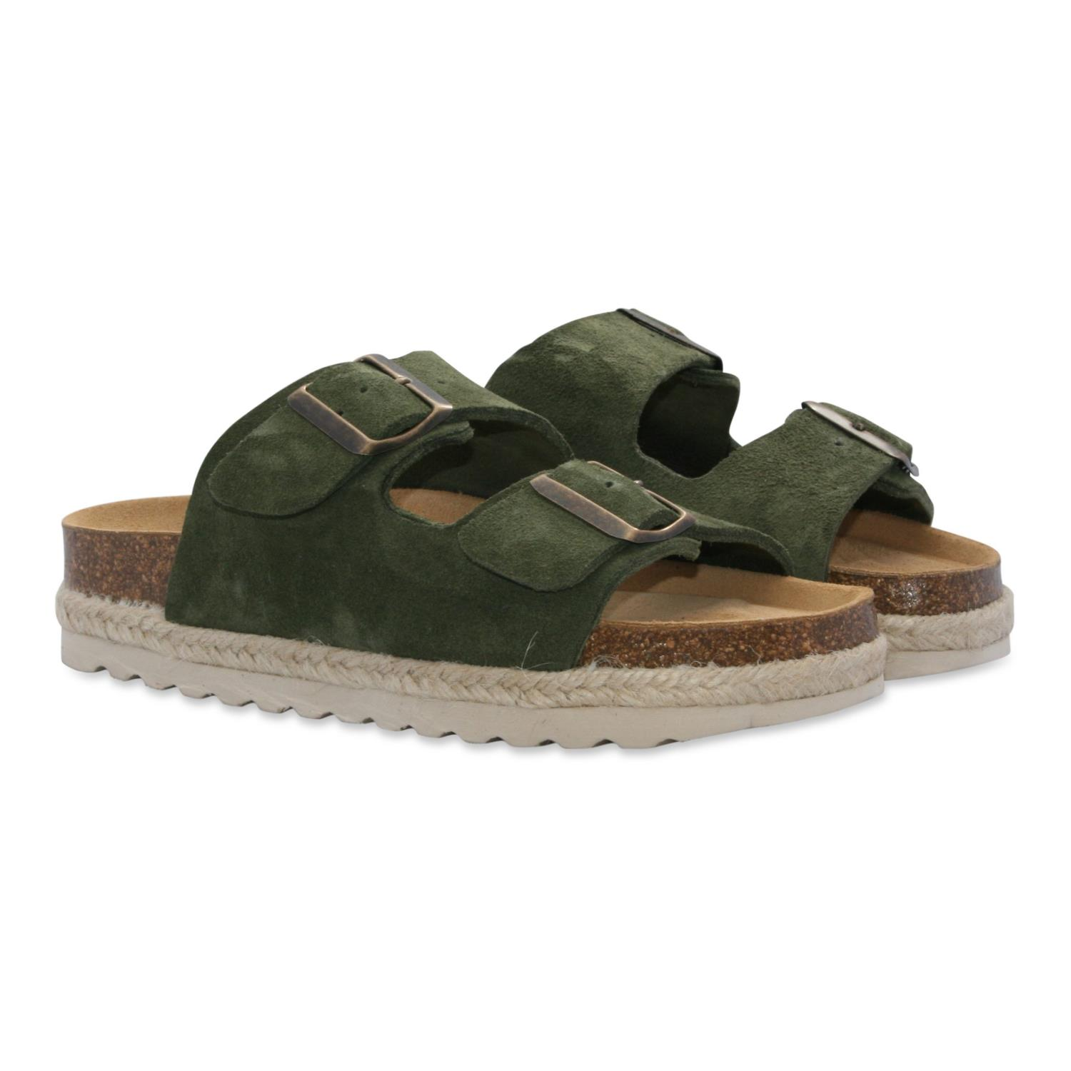 ORGINALSIN Amalie dark green sandal