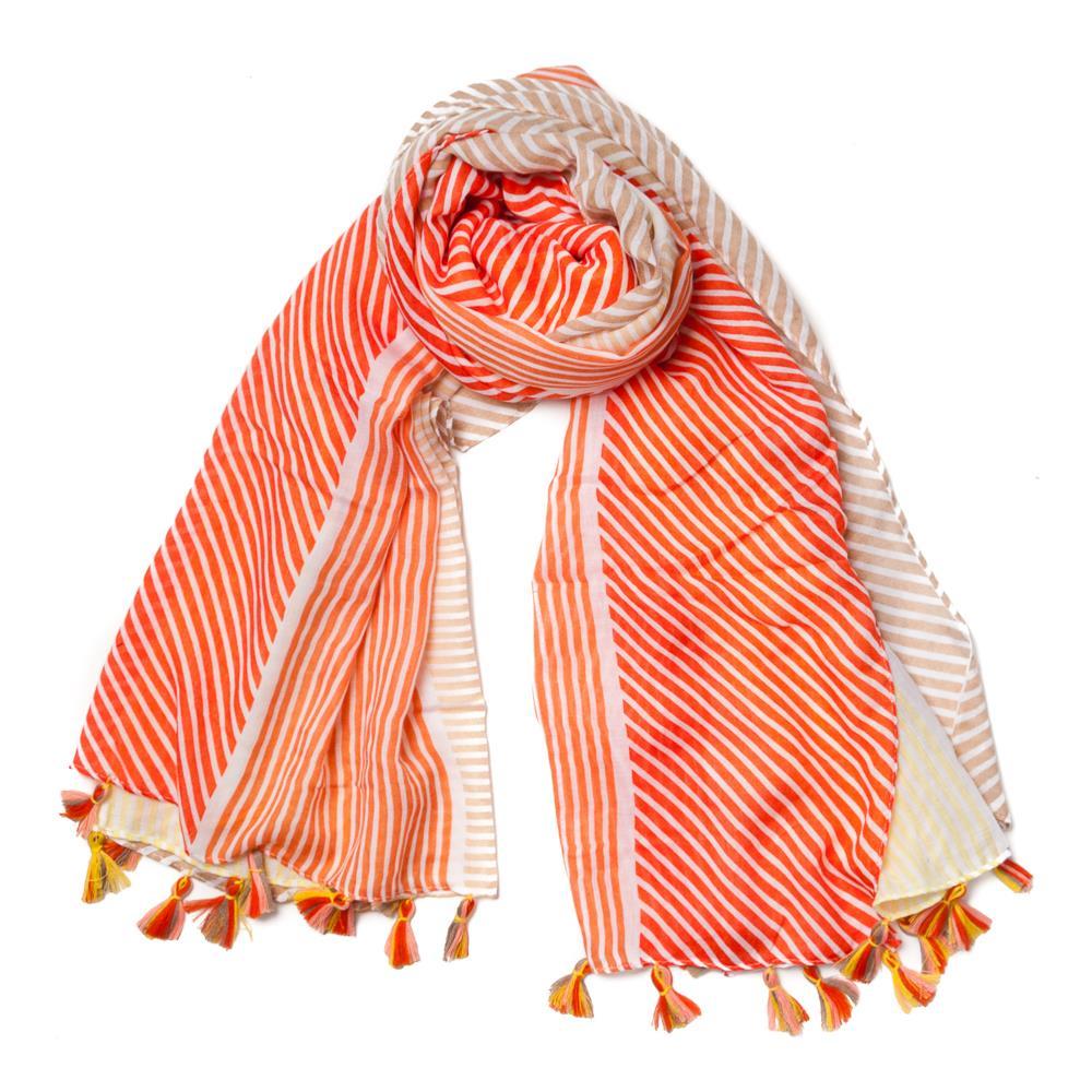 Rosenvinge mønstret skjerf, orange/gul