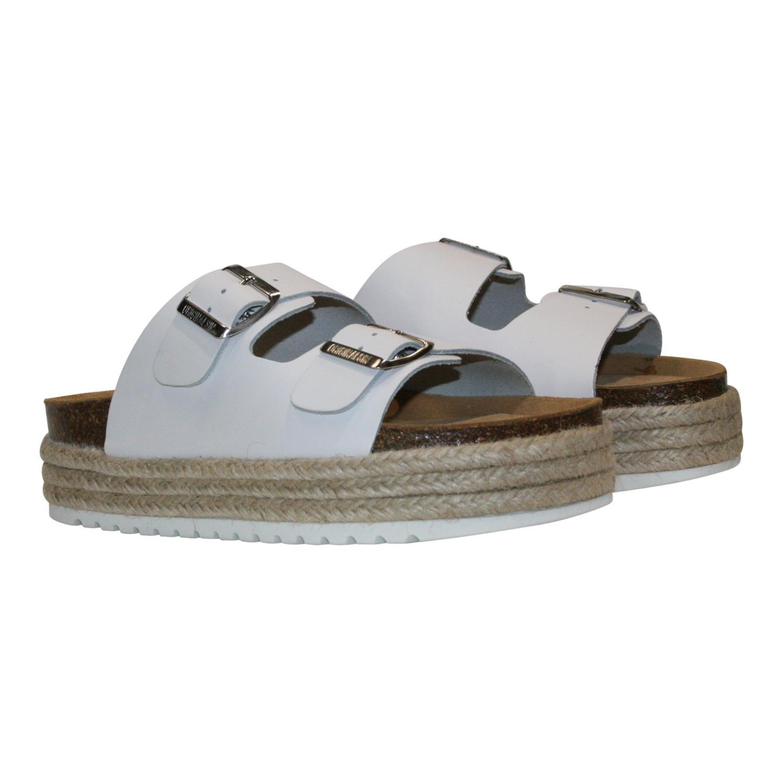 Orginalsin Nora white, platform sandal