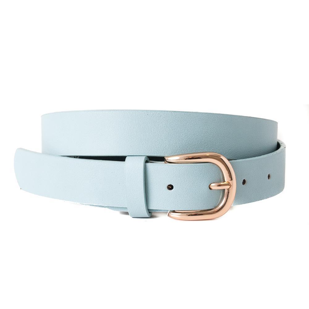 Rosenvinge Skinn belte, lysblå