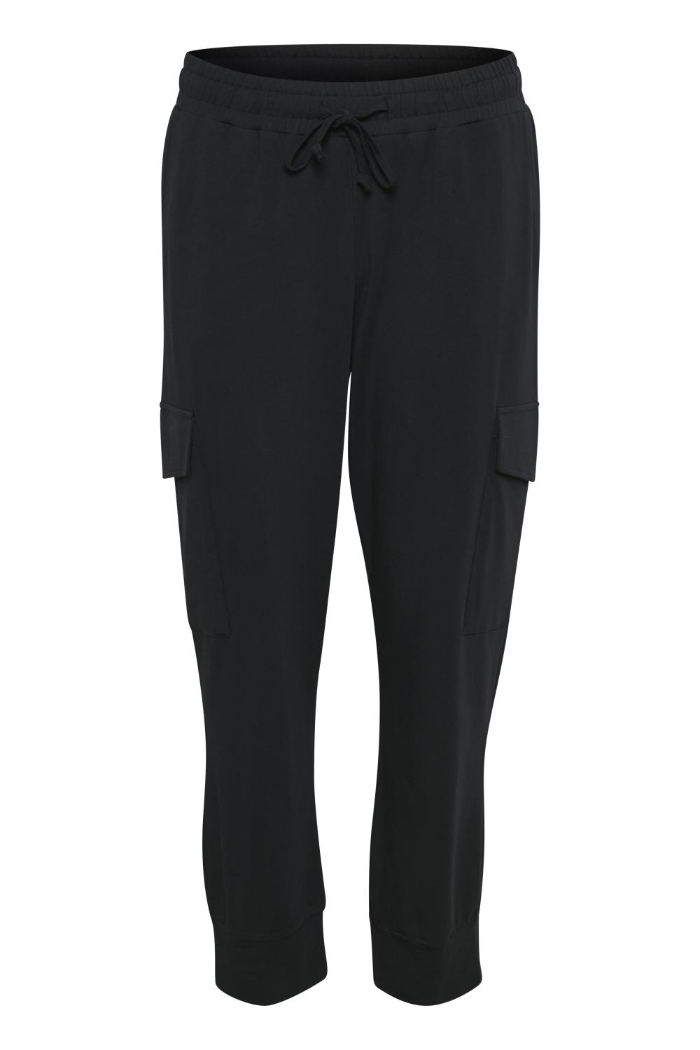 Kaffe Siggi Linda Cropped pants, black deep