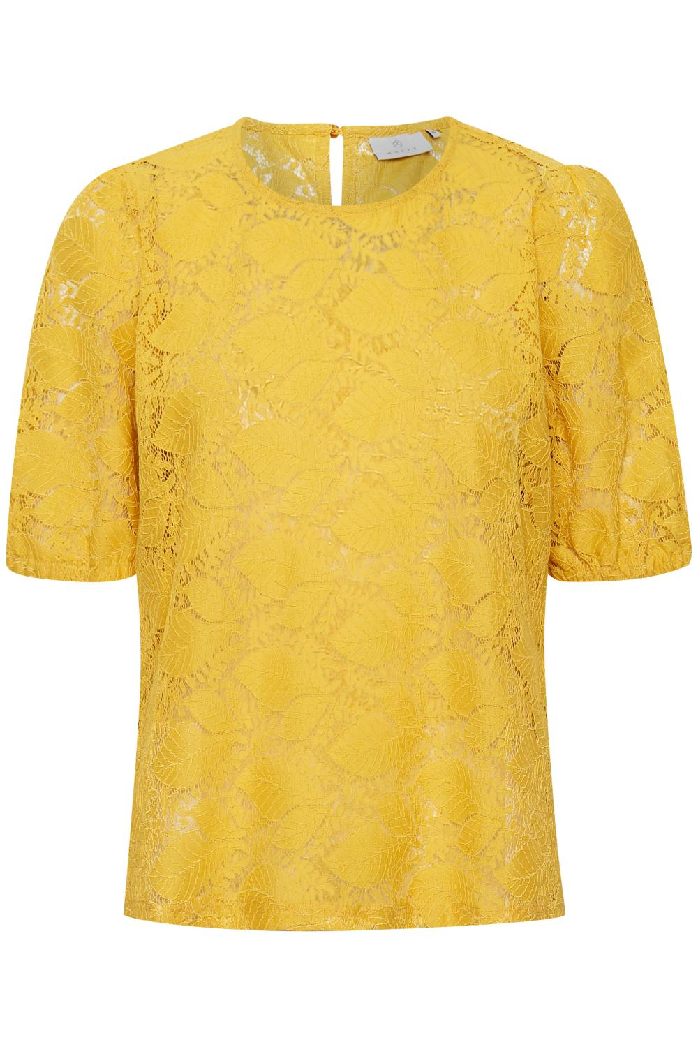 Kaffe Damla Lace 1/2 sleeve, golden rod