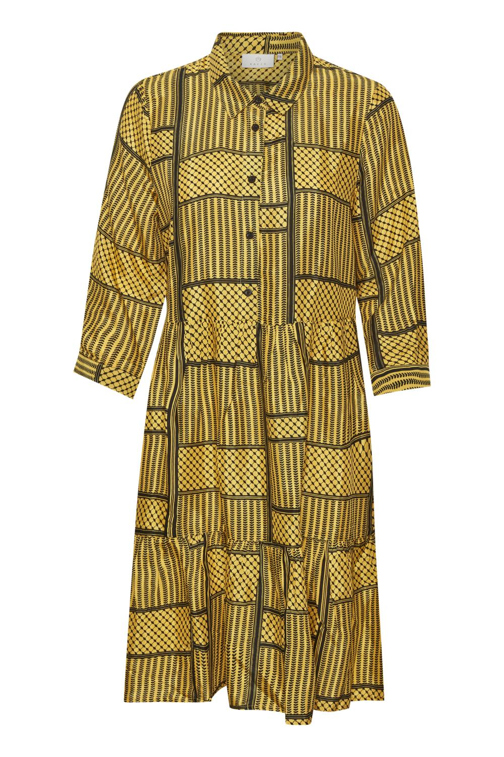 Kaffe Mille Dress, golden rod
