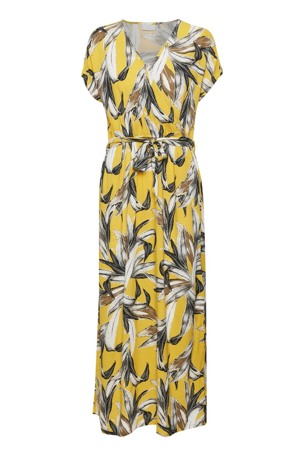 Kaffe Elysse Maxi Dress, golden rod