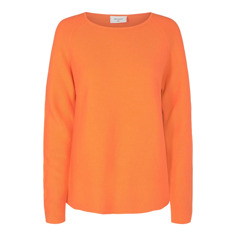 Freequent Dova bommull genser, orange