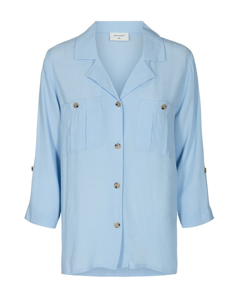 Freequent Jaku blouse, chambray blue