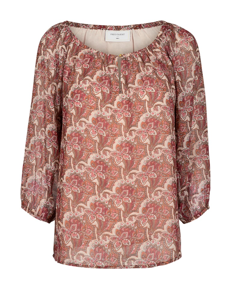 Freequent Emily blouse, mønstret