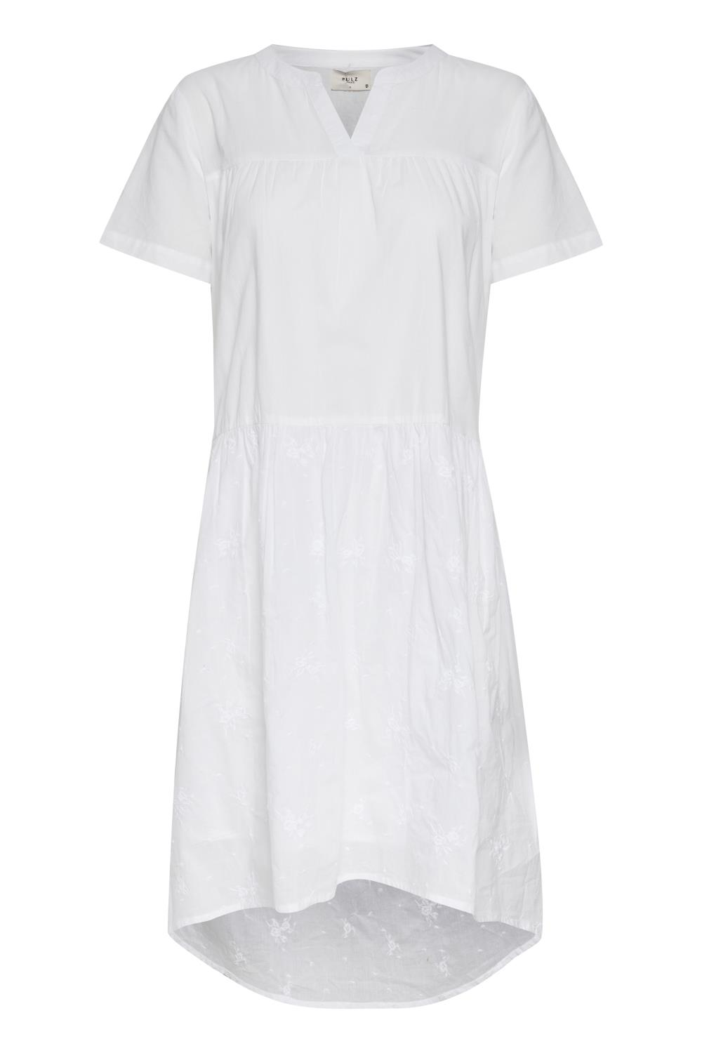 Pulz Vanessa dress, bright white