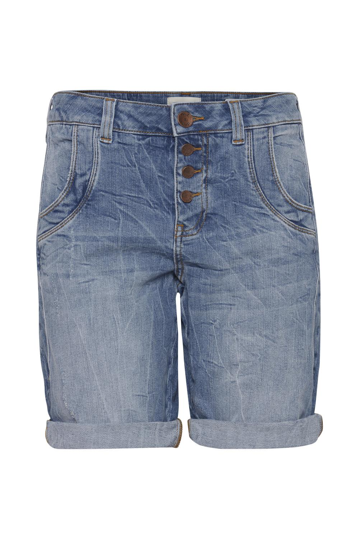 Pulz Melina shorts, denimblå