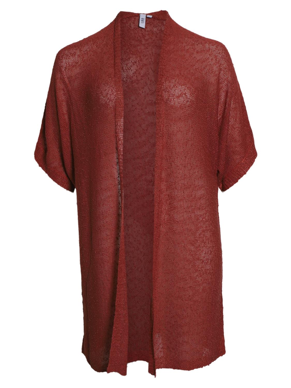 Ciso strikket cardigan, rustfarget