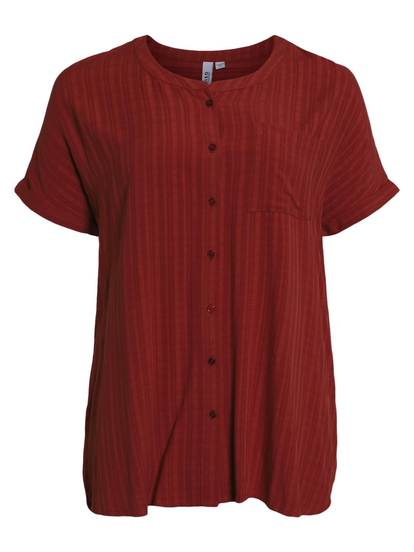 Ciso viskose bluse, rustfarget