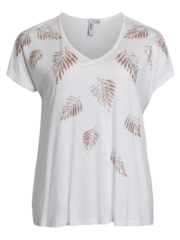 Ciso T-shirt, hvit/gull print