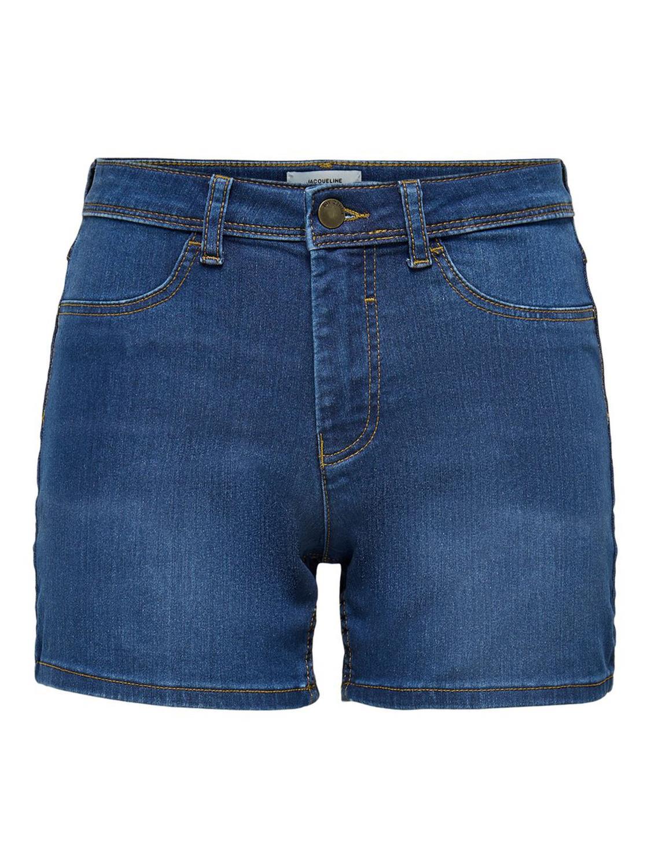 Jacquline de Yong, Nikki high shorts, denimblå