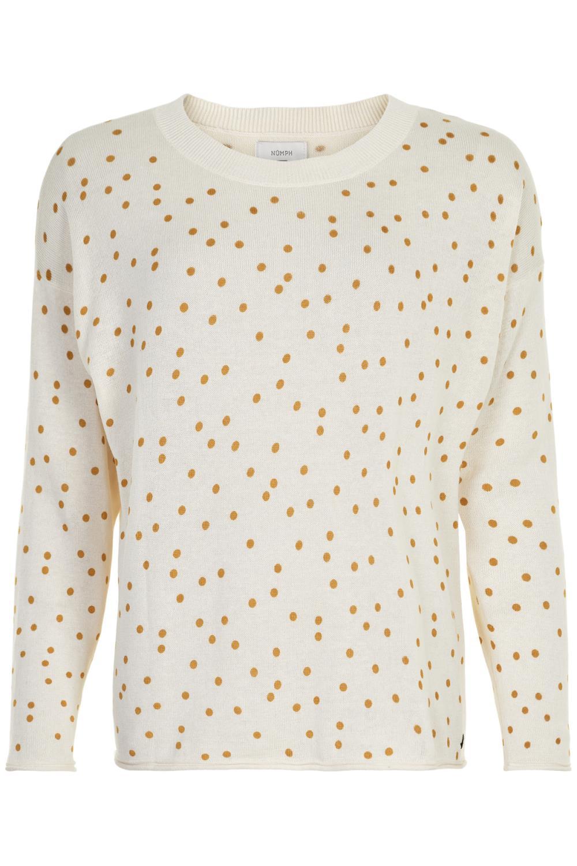 Nümph Blanque pullover, prikket genser