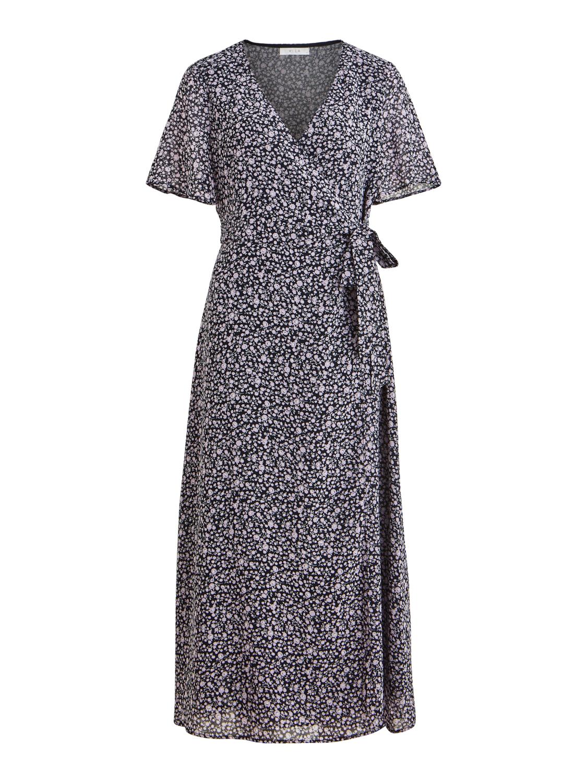 VILA Oelameredith ancle 1/2 dress, navy blazer/w.meredit