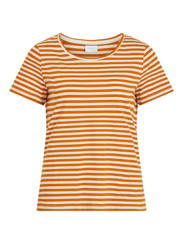 Vila Sus O-neck s/s t-shirt, pumkin spice/birch