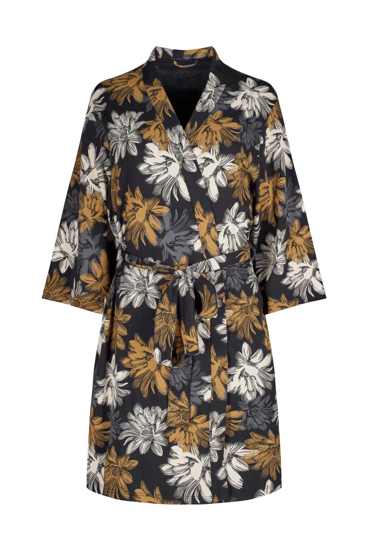 Skiny L. Kimono, big bronze flower
