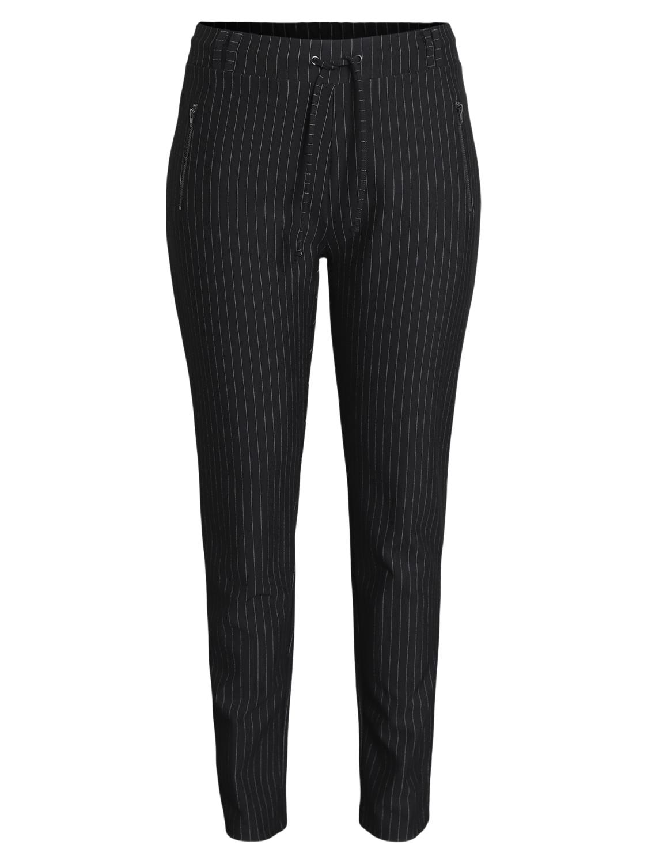 Ciso Sort stripet bukse, med snøring