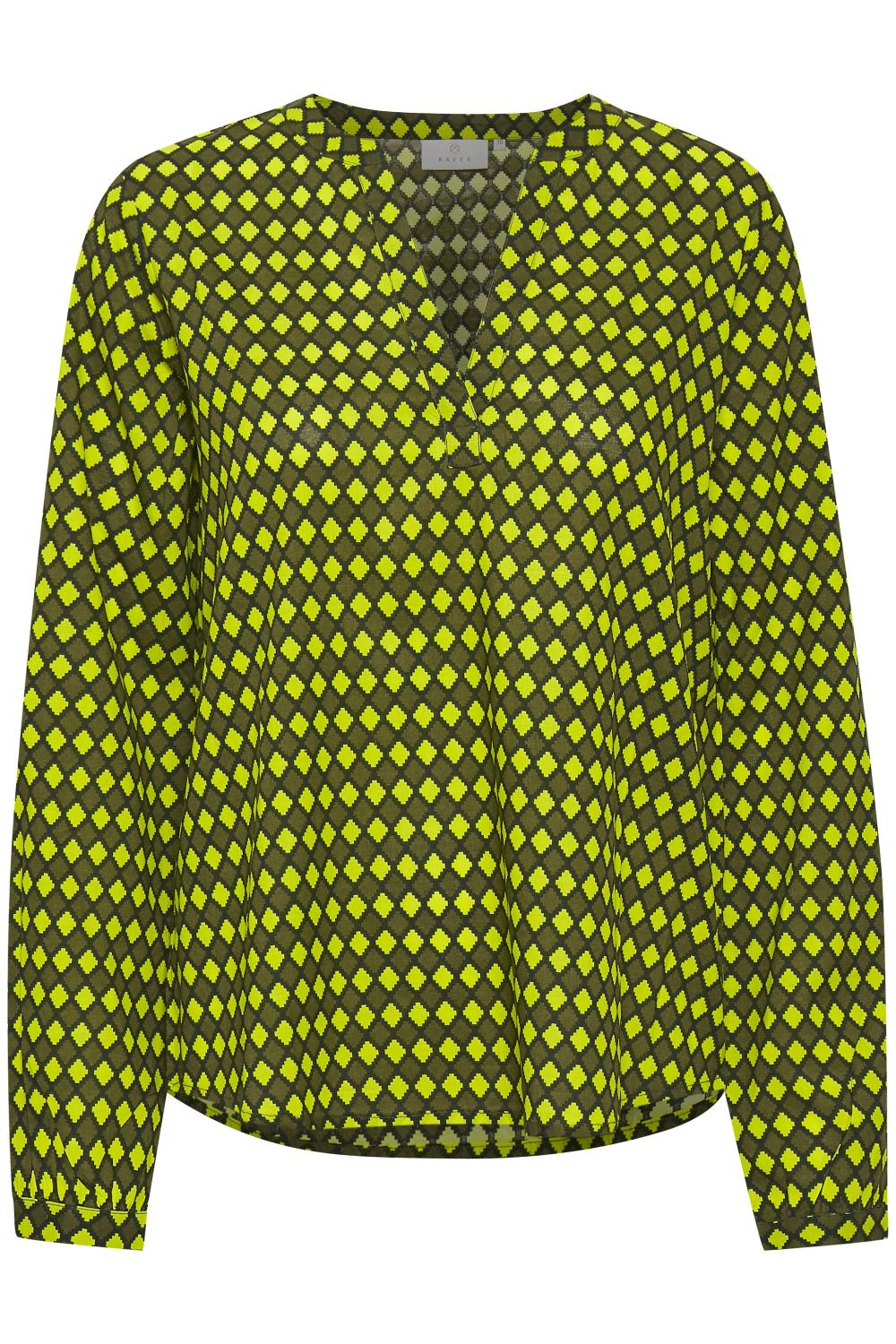 Kaffe KAsary Tilly Blouse, neon diamond print