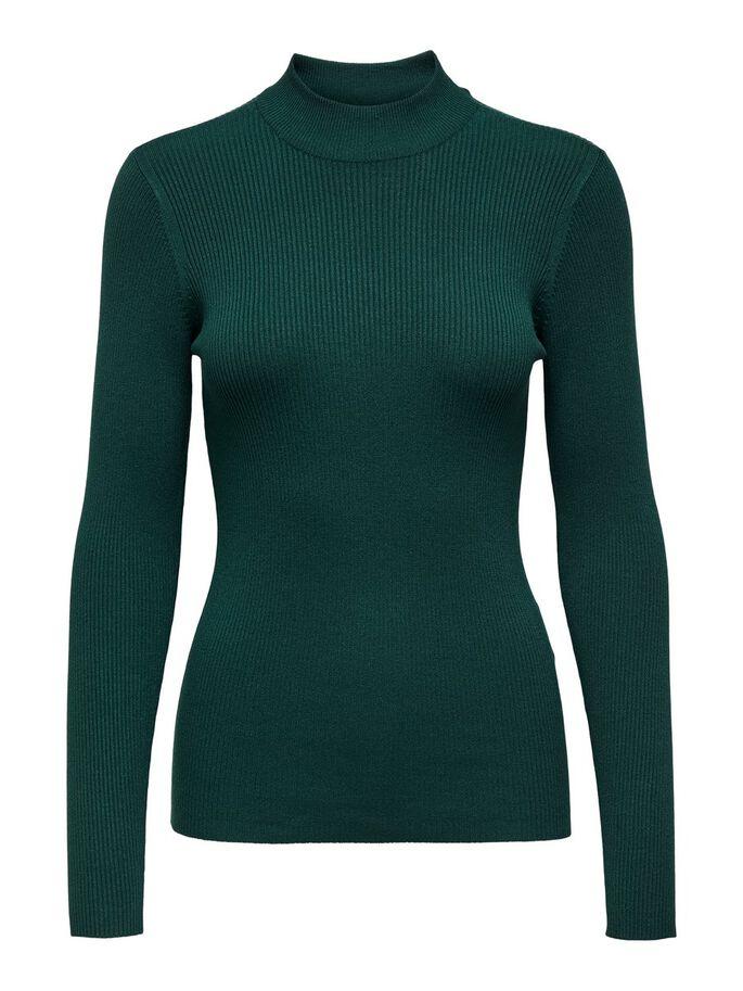 Jacqueline de Yong New maryan Highneck Knit, mørk grønn