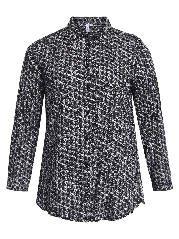Ciso mønstret skjorte/tunika, sort/hvit