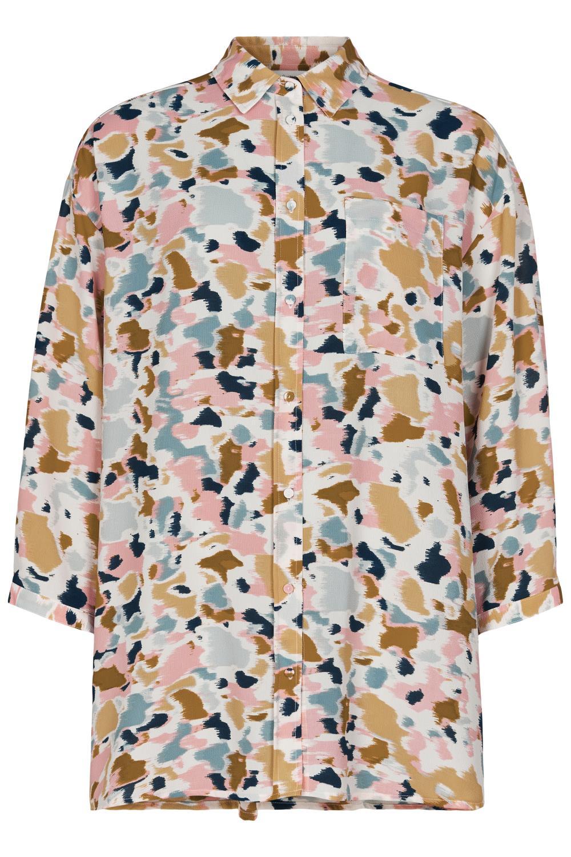 Nümph Begonia shirt, mønstret storskjorte, citadel