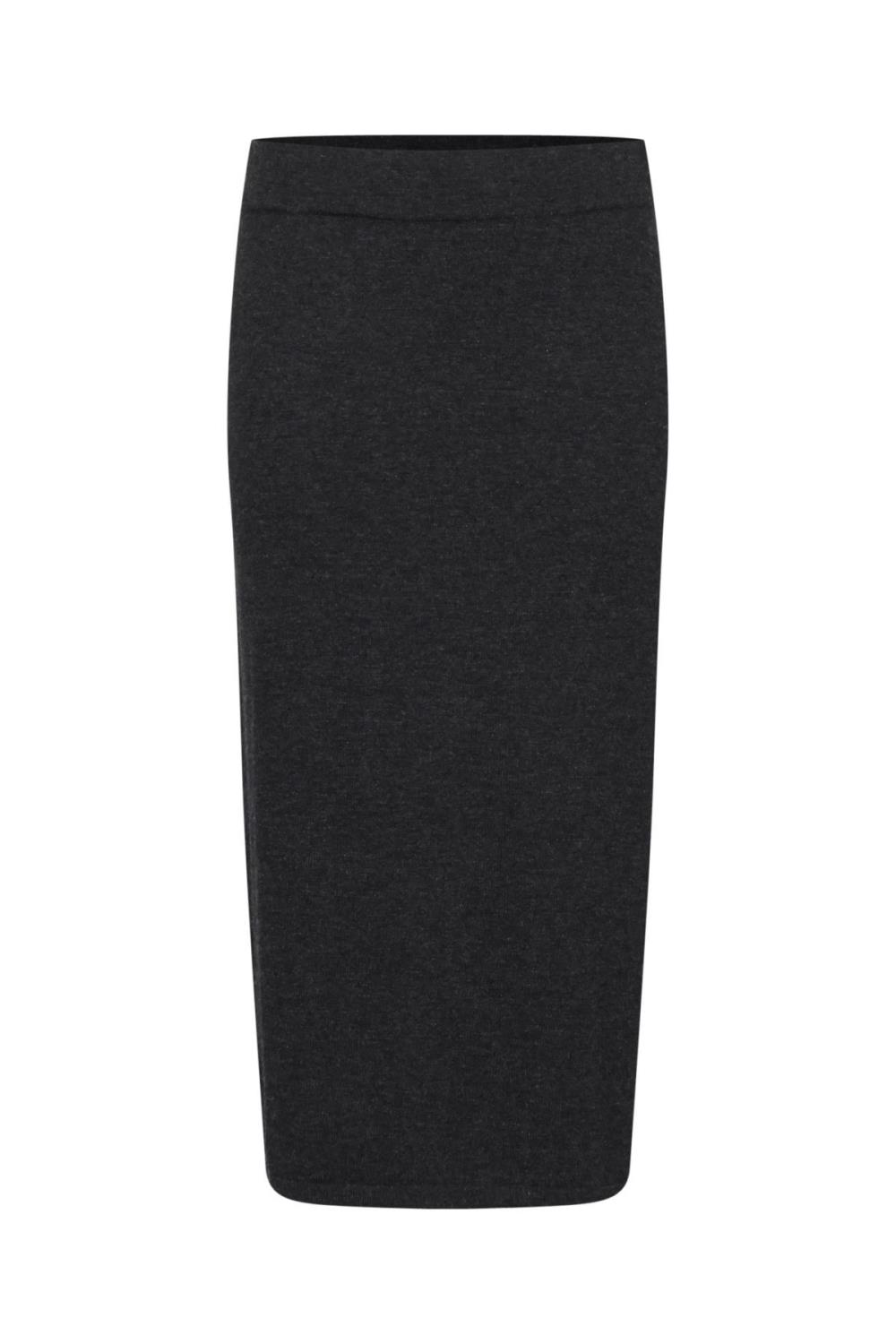 Pulz Nola skirt knit, dark grey melange