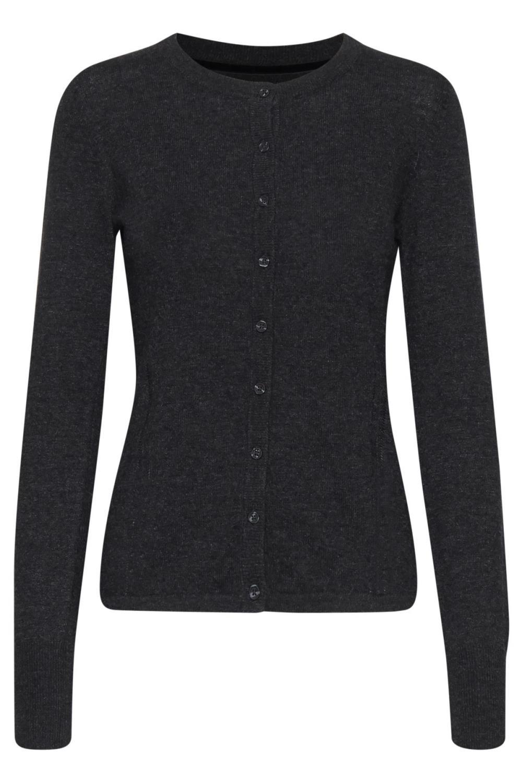 Pulz Nola cardigan knit, dark grey melange