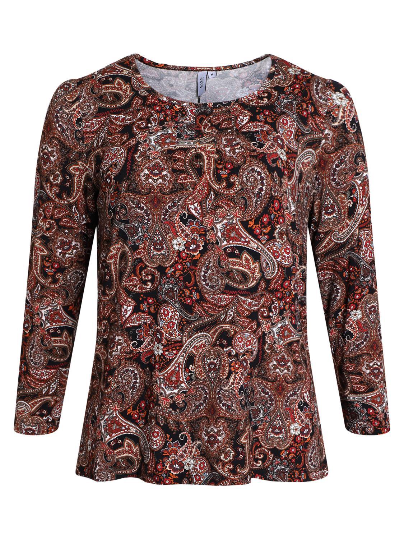 Ciso Paisley mønstret langermet T-skjorte