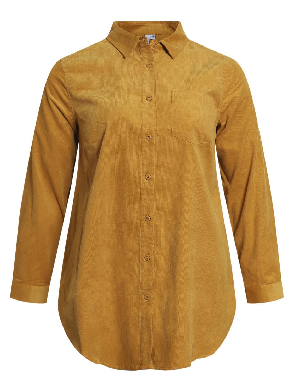 Ciso cordfløyel storskjorte, gul