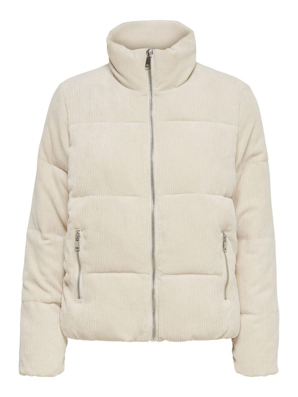 JDY Newlexa padded cordur jacket, oatmeal