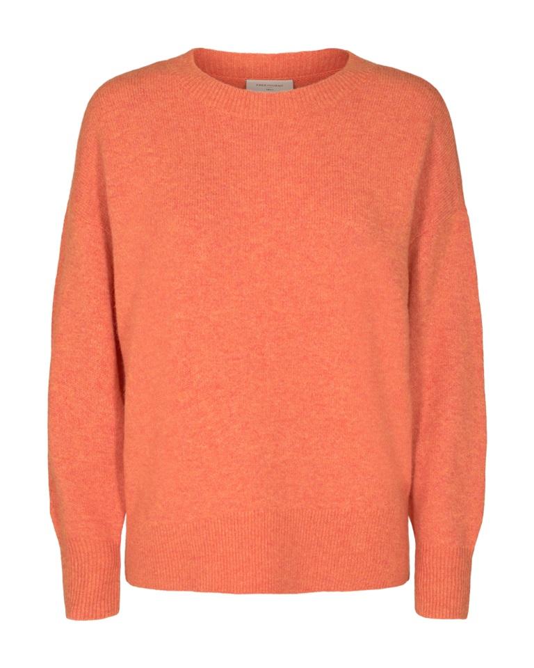 Freequent Mono Pullover, orange