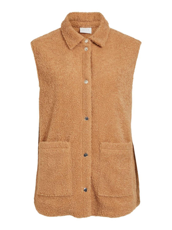 Vila Vesti Teddy Vest, lys brun