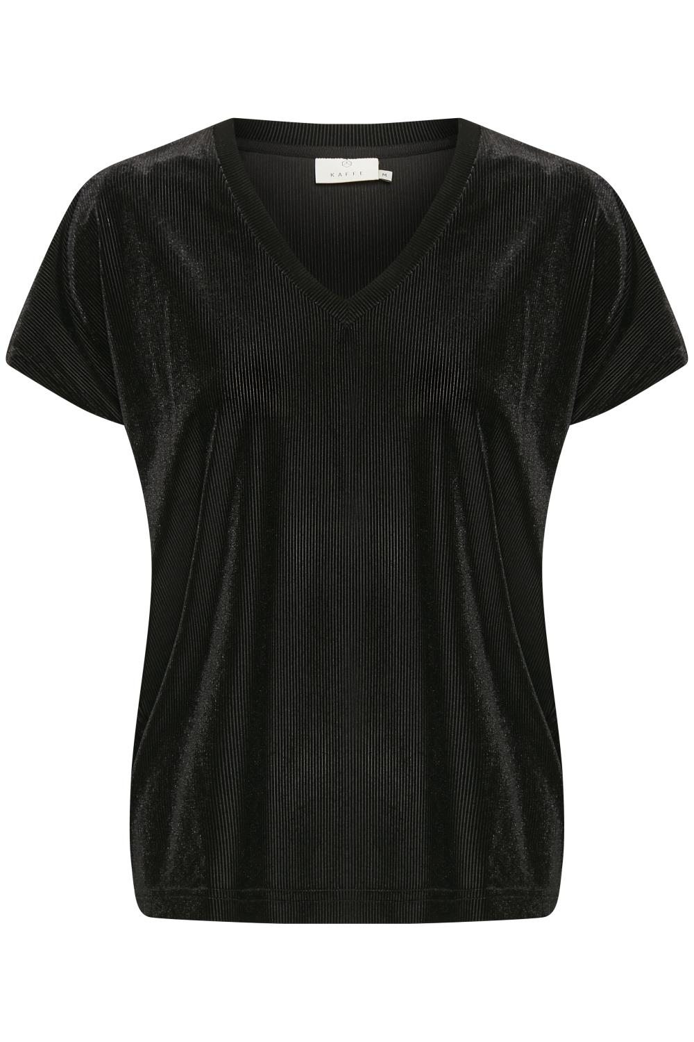 Kaffe Collin velvet blouse, black deep