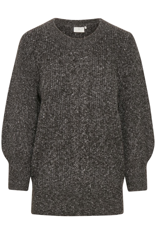 Kaffe Abetina Knit Pullover, mørk grå melert