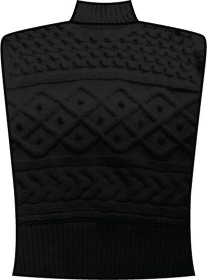 NA-KD Cable Knitted Vest, black