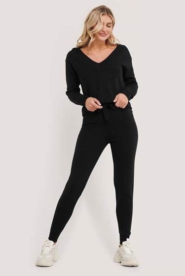 NA-KD Lounge Pants, black