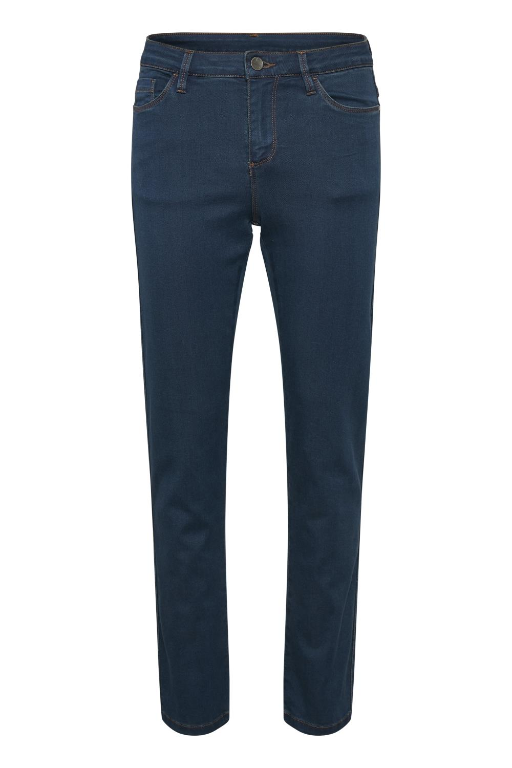 Kaffe Andy straight jeans, blue denim