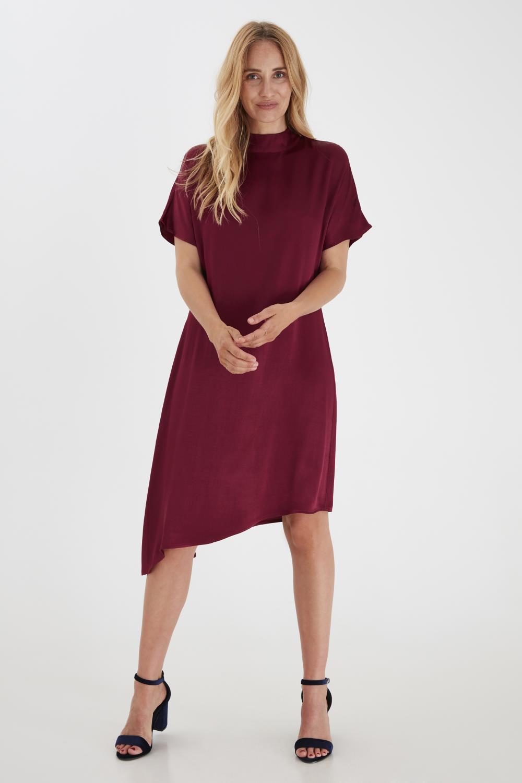 Pulz Aria dress, burgunderrød