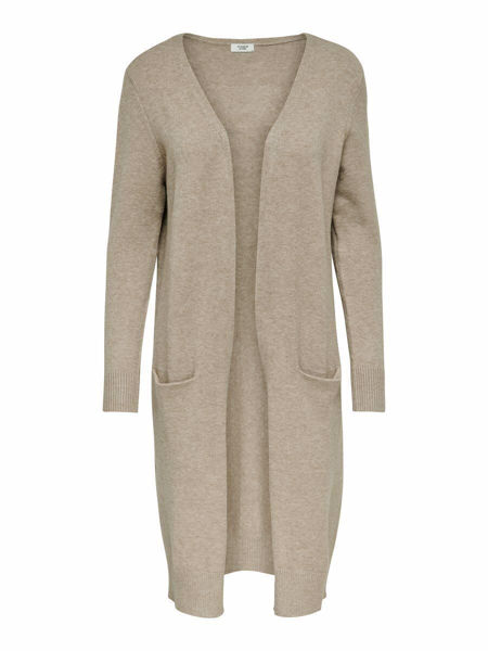 Jacqueline de Young Marco L/S long cardigan knit, beige/melange