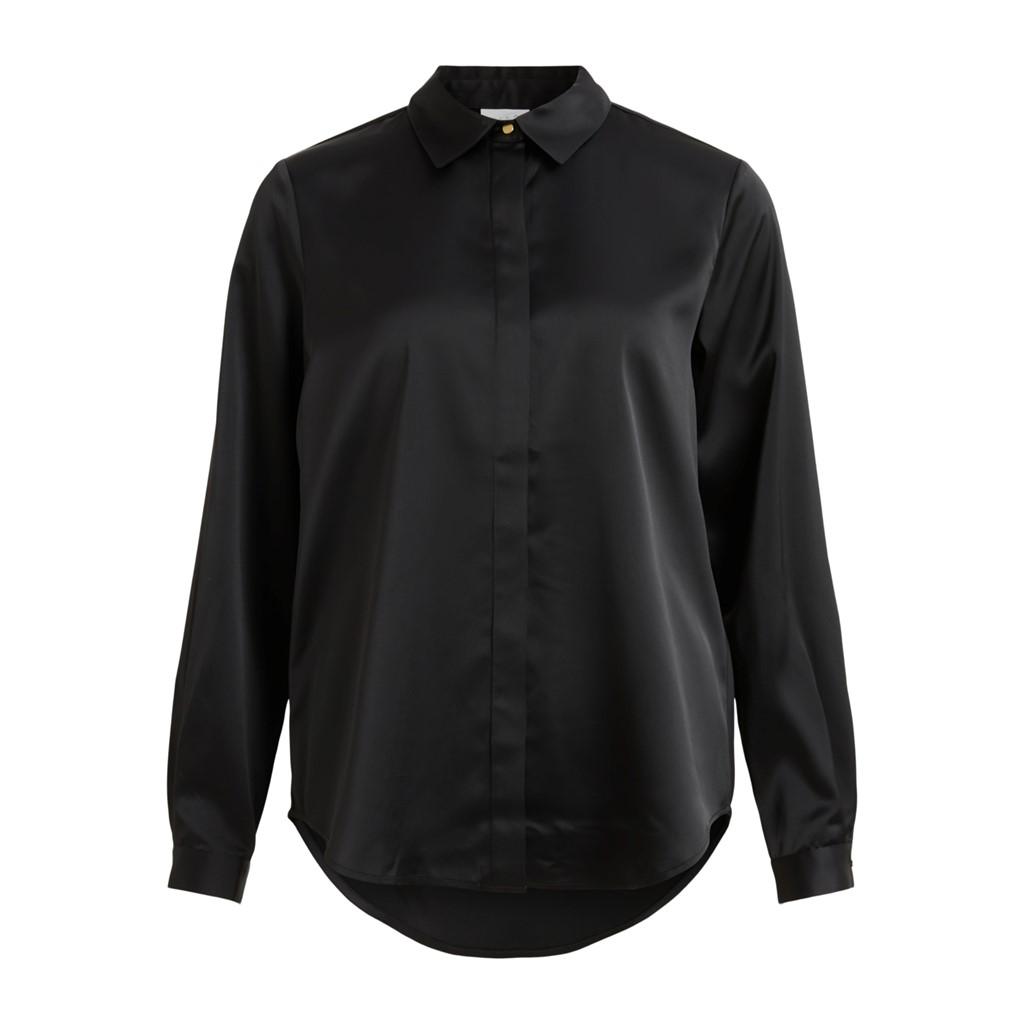 Vila Daye L/S shirt/su, black