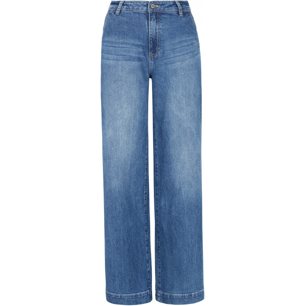 Soft Rebels Hightwaist Wide Jeans, medium blue