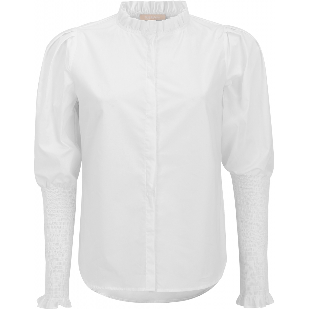 Soft Rebels Trinny LS Shirt, Snow white