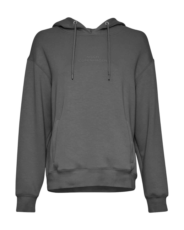 MSCH Ima Logo Hood Sewatshirt, gråmelert